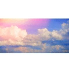 Sunrise Sky Polygonal Background vector
