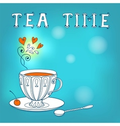 Tea card vector image