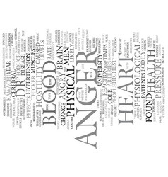 The destructive aspects of anger text background vector