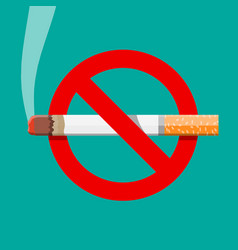 Tobacco cigarette abuse concept vector