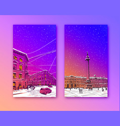 trendy cover templaterussia saint petersburg vector image