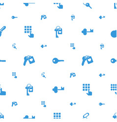 unlock icons pattern seamless white background vector image