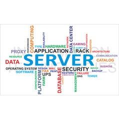 Word cloud server vector