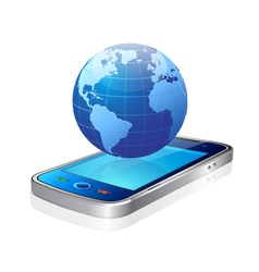 world and mobile vector image