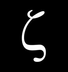 zeta greek sign vector image