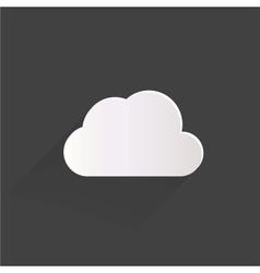 Cloud application web icon vector