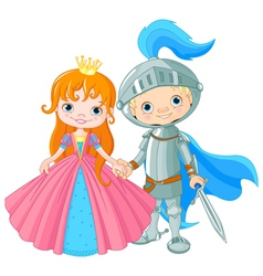 Medieval Lady and Knight vector image vector image