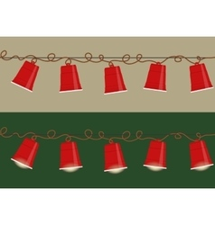 Party cups garland vector image