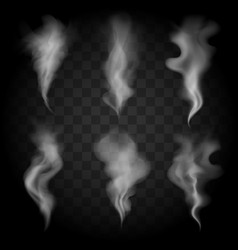 smoke wave set vector image