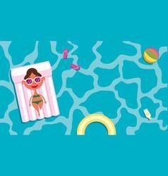 summer pool girl vector image vector image