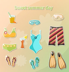Summer swimming vector image vector image
