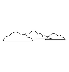 Cloud sky weather heaven nature icon vector