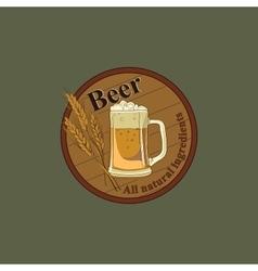 Colored Beer emblem vector image
