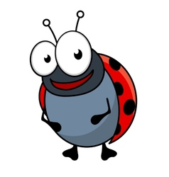 Cute little red ladybug cartoon character vector image vector image
