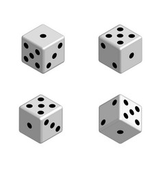 dice set in isometric 3d vector image