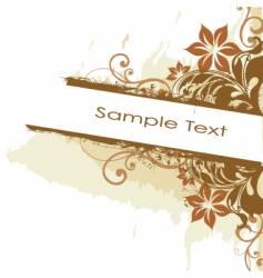 grunge floral side banner vector image vector image