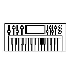 musical keyboard technology vector image vector image