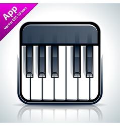 Piano musical app icon vector image