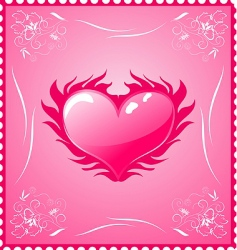 romantic stamp for valentines day vector image
