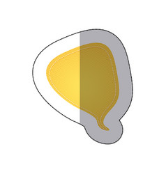 yellow drop chat bubble icon vector image