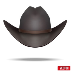 Black cowboy hat Isolated on white background vector image vector image