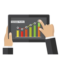 business growth commerce concept vector image