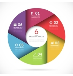 circle template for business infographics vector image vector image