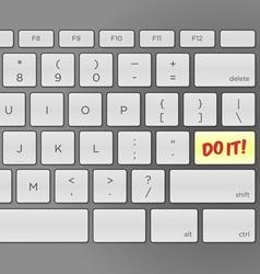 Do It Keyboard vector image