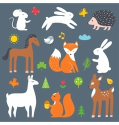 Forest and Woods Animals Cartoon vector image vector image