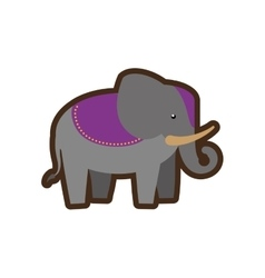 indian elephant style design icon vector image