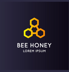logo bee honey stylish and modern sign for vector image