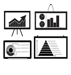 Minimal Cart bar Chart Arrow Chart Pie Chart vector image vector image