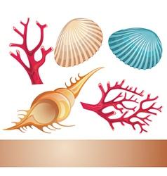 Summer sea elements vector image vector image