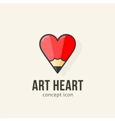 Art heart abstract concept icon vector image
