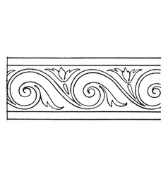Evolute spiral stove tile is a painting during vector