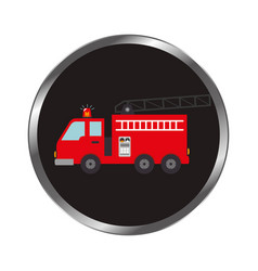 Fire fighter truck icon vector