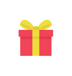 gift icon isolated on white background vector image