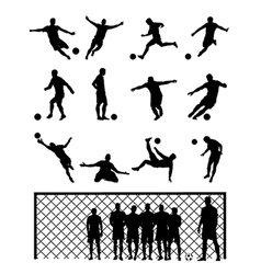 Set Of Soccer Player vector image vector image
