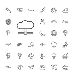33 sky icons vector