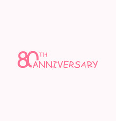 80 anniversary logo concept 80th years birthday vector image