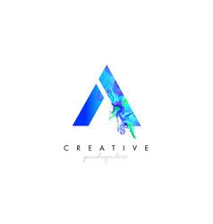 A letter icon design logo with creative artistic vector