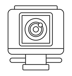 action camera icon outline style vector image
