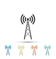 antenna icon isolated radio antenna wireless vector image