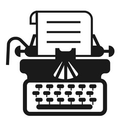 antique typewriter icon simple style vector image