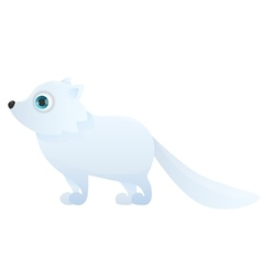 Arctic fox on a white background vector