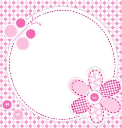 Baby girl greeting card vector