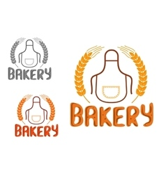 Bakery shop signboard or emblem design vector
