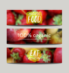 banners design template with blur background with vector image