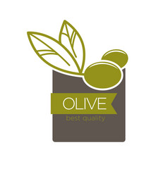 Best quality olive label vector