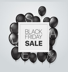 black friday sale concept banner with white frame vector image